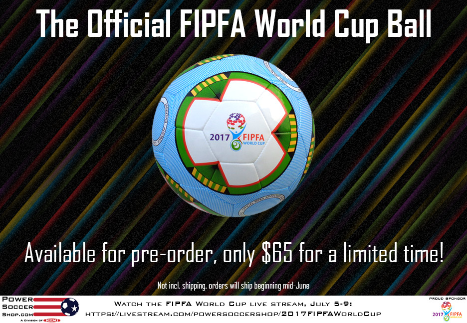 Get the Official 2017 FIPFA World Cup ball, only $65!